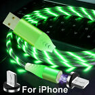 3 in 1 LED Flowing Light Fast charging Strong Magnetic Cable USB Data Cable 2020