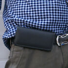 1x Litchi Skin Belt Holster Magnetic Flip Case Cover for iphone Samsung Galaxy