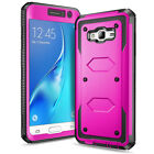 For Samsung Galaxy J7 (2015) Heavy Duty Hybrid Rubber Hard Impact New Case Cover