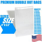 4x5.5 Bubble Out Bags Protective Wrap Pouches Cushioning Clear Self Seal All Qty