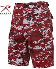 RED DIGITAL CAMOFLAGE ROTHCO 67413 MENS BDU COMBAT CARGO SHORTS S TO 2X