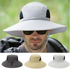 Adjustable Unisex Men Wide Brim Sun Hat Camping Fishing Sunscreen Boonie Hat