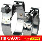 MIKALOR Quality Stainless Steel Heavy Duty Hose & Exhaust Pipe Muffler Clamps