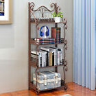 4 Tiers Iron Kitchen Bakers Rack Storage Hanging Bar Workstation Stand