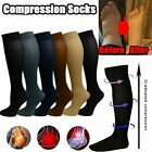A Pair Men Women's Compression Socks Pain Relief Leg Foot Calf Support Stockings