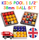 "KIDS SPOTS & STRIPES POOL BALLS 1 1/2"" INCH (38mm) BALLS FOR HOME USE TABLE £14.99 GBP on eBay"