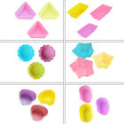 02 6pcs Silicone Cake Muffin Chocolate Liner Baking Cup Cookie Mold GEMS Cupcake