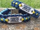 Los Angeles Chargers Paracord Bracelet w/ NFL Dog Tag and Metal Buckle. AWESOME! $11.5 USD on eBay