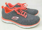 Skechers / Flex Appeal 2.0 / Air Cooled Memory Foam / Grey/Coral / NIB / Reg $50
