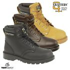 Grafters M629 Apprentice S1 SRC Leather Steel Toe Cap Safety Boots Sizes 4 - 16
