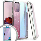 "Samsung Galaxy S20 (6.2"") Hard Rubber TPU Iridescent Glitter Mirror Case Cover"