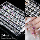 Nail Art Storage Box Multi Shape Nail Rhinestones Container Organizer Case Tool