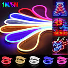 12V SMD 2835 Flexible LED Strip Waterproof Sign Neon Lights Silicone Tube 3.28ft