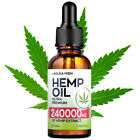 Hemp Oil Drops for Pain Relief, Stress, Sleep Pure 1000 / 3000 / 5000 / 24000 mg