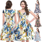 50s Vintage Floral Housewife Retro Cocktail Prom Evening Swing Pinup Dress S-xl