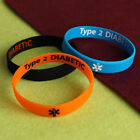Diabetes Wristbands - Type 1 - Type 2 - Diabetic Silicone Wristbands all ages