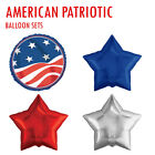 USA American Patriotic National Holiday Mylar Balloons 18'' Sets For Helium Tank