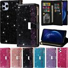 For Iphone 11 Pro Max Xs 7 8 Plus Se Glitter Leather Wallet Card Slot Case Cover