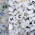 10MM Alphabet Round Letter English Beads for bead necklace 100pcs/bag 103120