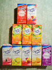 10 PACKETS ONLY CRYSTAL LIGHT ON THE GO DRINK MIX MANY FLAVORS TO CHOOSE FROM