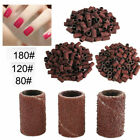 100PCS Manicure Pedicure Sanding Bands 80 120 180 Nail Drill Replacement Bits