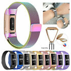 For Fitbit Charge 3 4 Wristband Stainless Steel Milanese Magnet Loop Band Strap image