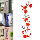 3d Flower Decal Living Room Vinyl Wall Stickers Removable Mural Home Art Decor
