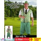 Mens Pink Golfer Pub Golf Stag Night Fancy Dress Up Sports Costume Outfit