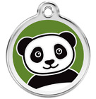 Engraved Personalised Dog / Cat ID Identity Tags / Discs PANDA Red Dingo (1PA)