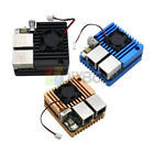 Dual Ethernet Ports Mini Router Power Supply Board with Case Fan for NanoPi R2S