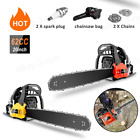 Upgraded 58CC 20 Inch 2 Stroke Guide Board Chainsaw Gasoline Powered Handheld US