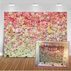 Pink Rose Flower Walls Backdrop Wedding Princess Birthday Party Photo Background
