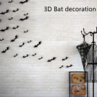 Halloween Bat Wall Decals Party Scary Spooky Black Decoration Stickers 12pc