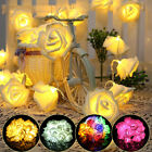 20 Led Rose Flower Light String Fairy Lights Home Wedding Romantic Bedroom Decor