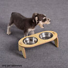 Stainless Steel Raised Cat Bowl Tilted With Stand Feeding Watering Protect Neck