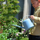 Plastic Garden Watering Can Pot Household Home Gardening Tools Blue/Gray Durable