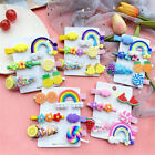 6Pcs/Set Fruit Sequin Baby Girl Hair Clip Hairpin Baby Hair Clips Barrettes Clip