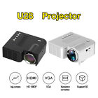 Portable Mini Projector HD 1080P Home Theater Video Movie Game 3D LED USB