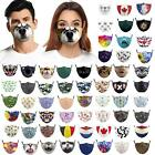 Face Mask Mouth Protection Washable- Happy Dog Design - Reusable Face Covering