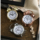 Portable Retro Twin Bell Round Alarm Clocks Table Desk Bedside Night Light Loud