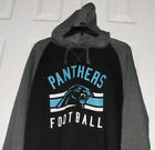 Men's New Two Tone Black & Gray NFL Carolina Panthers Hoodie Sizes L or XL $35.99 USD on eBay
