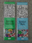 New Re-marks Coloring Bookmarks Set Of 5 Spring Garden Or Under The Sea