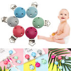 Teething Soother Strap Wooden Baby Pacifier Clip Teether Holder Nipple Holder