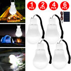 Portable Solar Powered Panel LED Bulb Light 15W Rechargeable Tent Lamp Camping