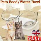 Pet Feeding Station Dog Cat Food Water with Raised Stand Single Double Bowl UK