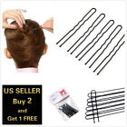 16 - 20pcs U-shaped Black Bun Hair Pin Clip Grips Brown Wavy Salon Hairpin