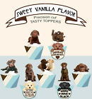 Brown choc chocolate Labrador Puppy pup Dog Party Cupcake Toppers cup cake