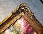 """5"""" Bronze Picture Frame antique Gold Ornate photo museum Oil Painting Wood 255G"""