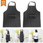 Adjustable Apron Cooking Kitchen Restaurant Chef Bib Dress w/ Pocket Waterproof
