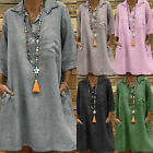 Womens Loose T Shirt Dress Summer Tunic Tops Casual Summer Sundress Plus Size
